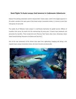 Book Flights To Kuala Lumpur And Immerse In Underwater Adventures.pdf