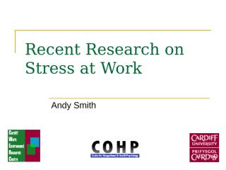 Stress at Work - Research.ppt