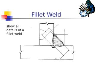 Draw parts of a fillet weld.ppt