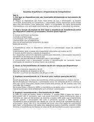Questões Arquitetura e Organização de Computadores.doc