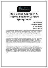 Buy Online Approach A Trusted Supplier Carbide Spring Tools.docx