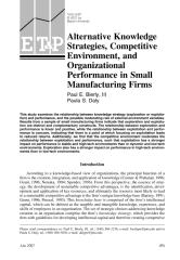Alternative Knowledge Strategies, Competitive Environment, and Organizational Performance in Small Manufacturing Firms.pdf